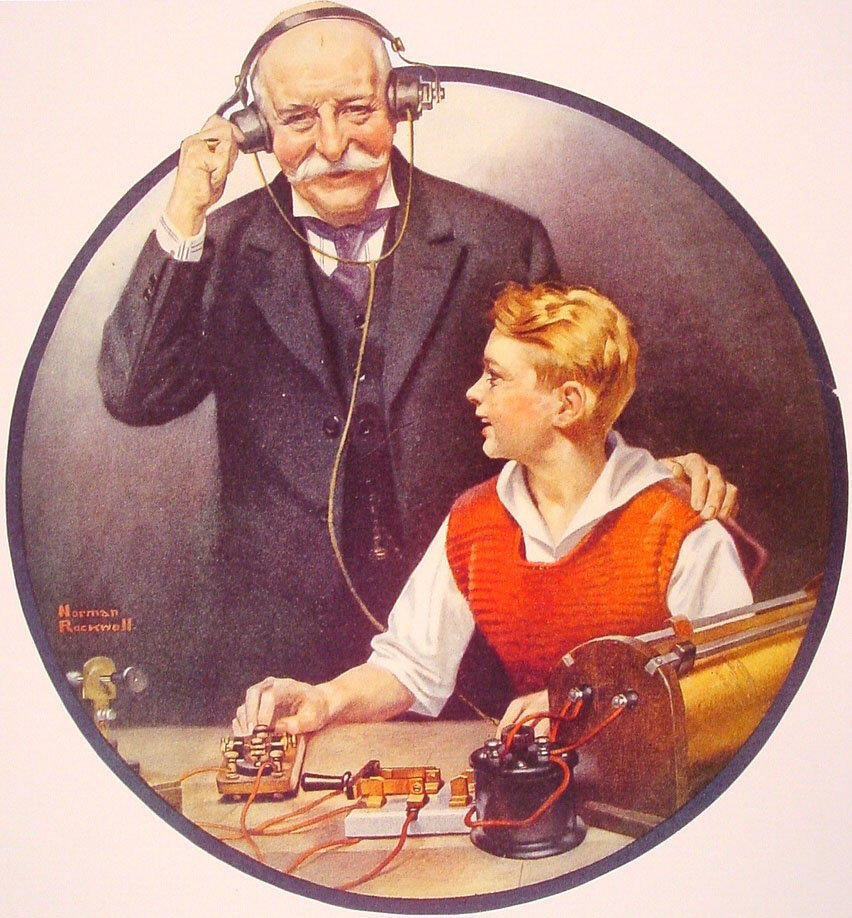 Grandpa Listening In on the Wireless, 1920