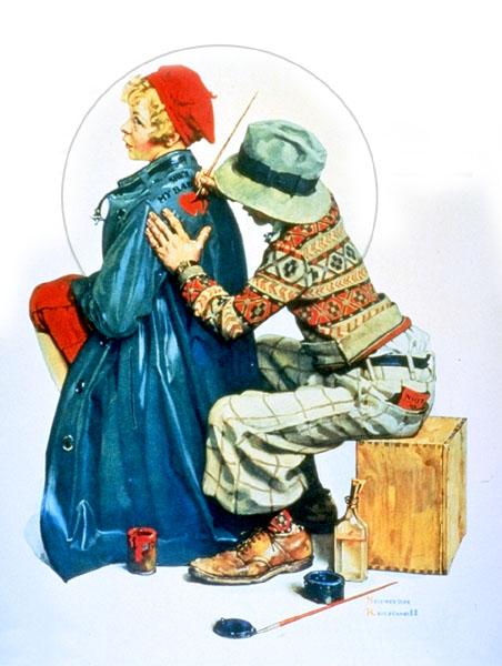 Painting coat, 1927 - Norman Rockwell
