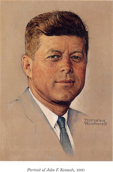 Portrait of John F.Kennedy, 1960 - Norman Rockwell