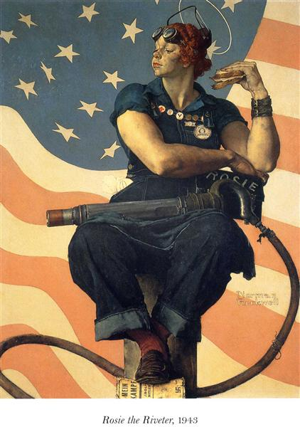 Rosie the Riveter, 1943 - Norman Rockwell