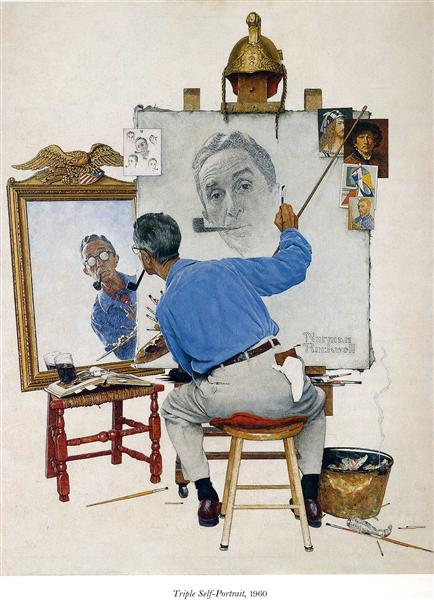 Self Portrait, 1960 - Norman Rockwell