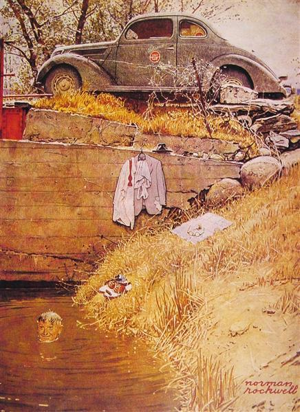 The Swimming Hole, 1945 - Norman Rockwell