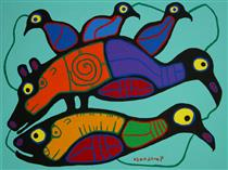 Loon Spirits Transforming - Norval Morrisseau