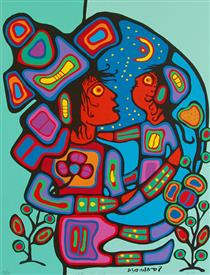 Mother and Child - Norval Morrisseau