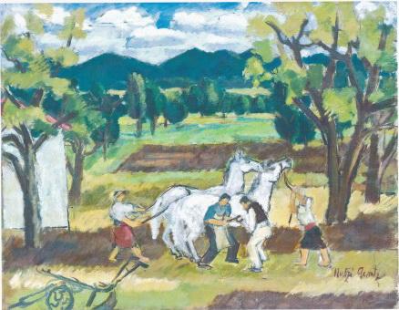 Horseshoeing, 1948