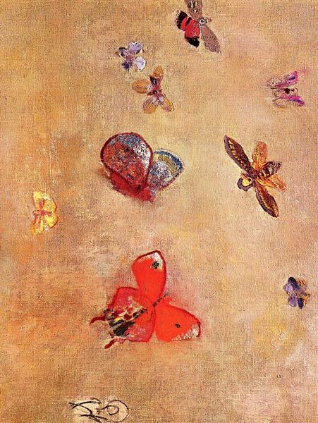Butterflies, 1913 - Odilon Redon