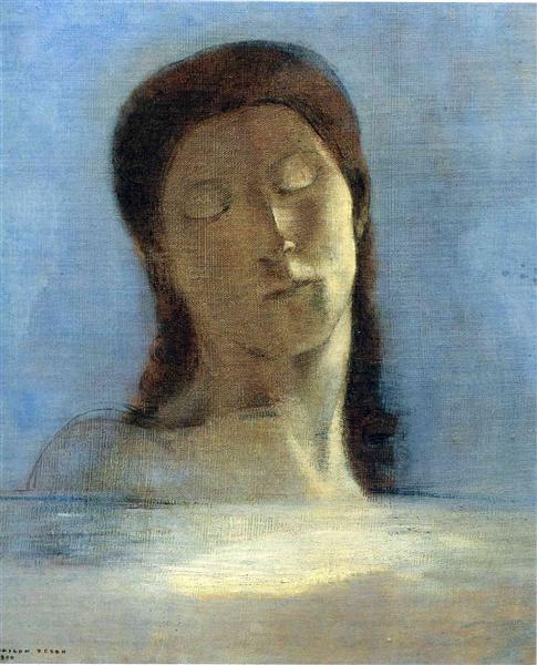 Closed Eyes, 1890 - Odilon Redon