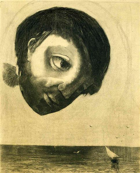 Photograph of Guardian Spirit of the Waters, 1878 - Odilon Redon