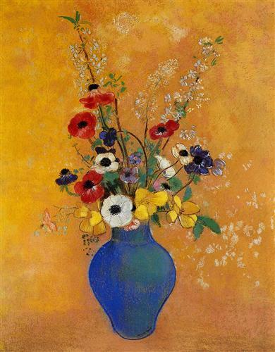 Ваза з квітами - Оділон Редон
