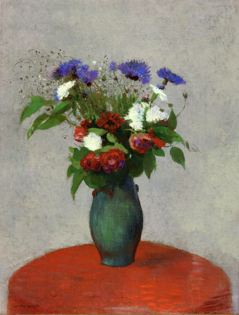Vase of flowers on a red tablecloth c1900 odilon redon vase of flowers on a red tablecloth c1900 odilon redon reviewsmspy