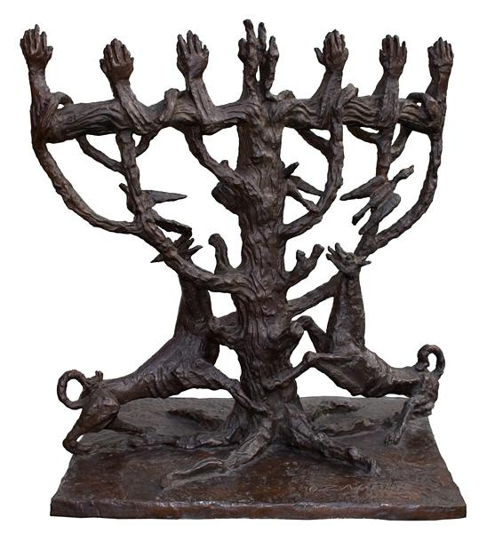 The Tree of Life - Menorah, 1957 - Осип Цадкін