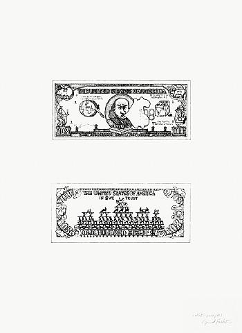 $108 Bill, 1973 - Oyvind Fahlstrom