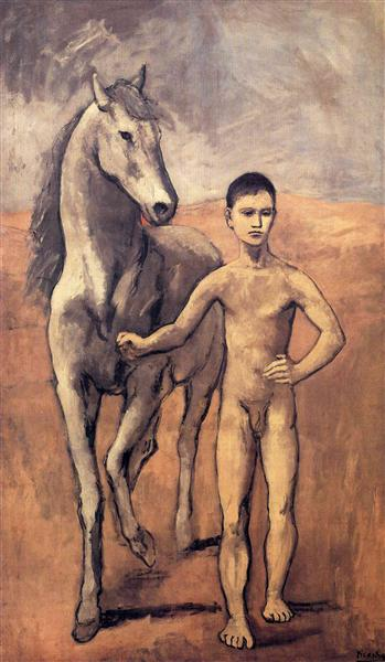 Boy leading a horse, 1906 - Пабло Пикассо