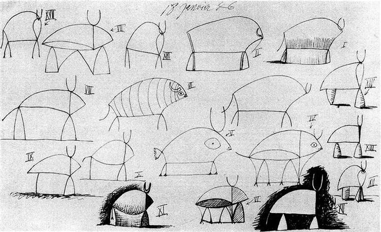 Bull (study), 1946 - Pablo Picasso