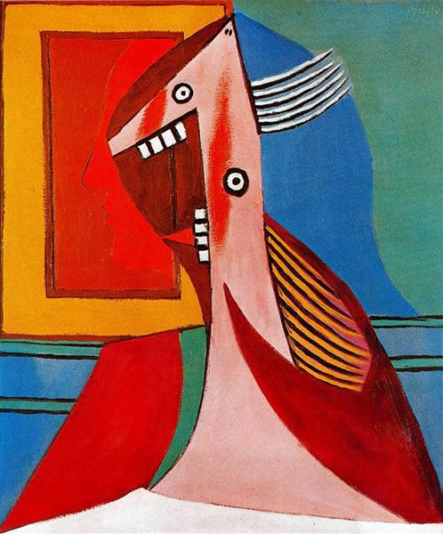 Bust of a woman and self-portrait, 1929 - Pablo Picasso