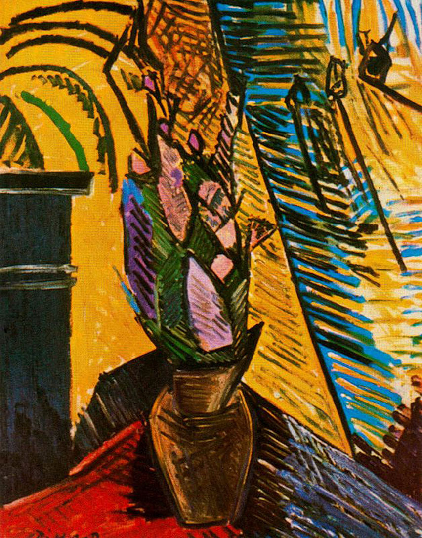 Flowers on the table - Pablo Picasso - WikiArt.org ...