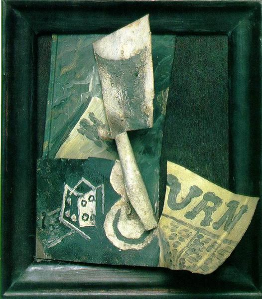 Glass and newspaper, 1914 - Pablo Picasso