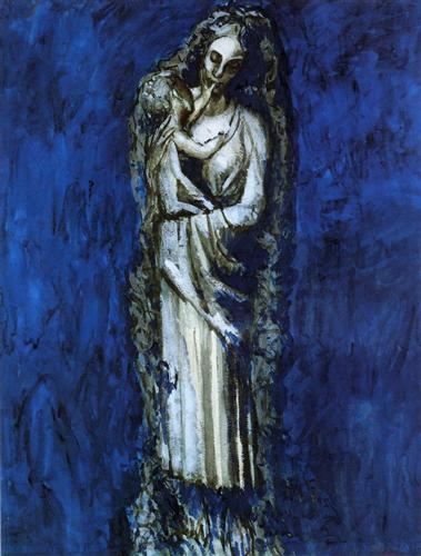 Madonna with Garland - Pablo Picasso