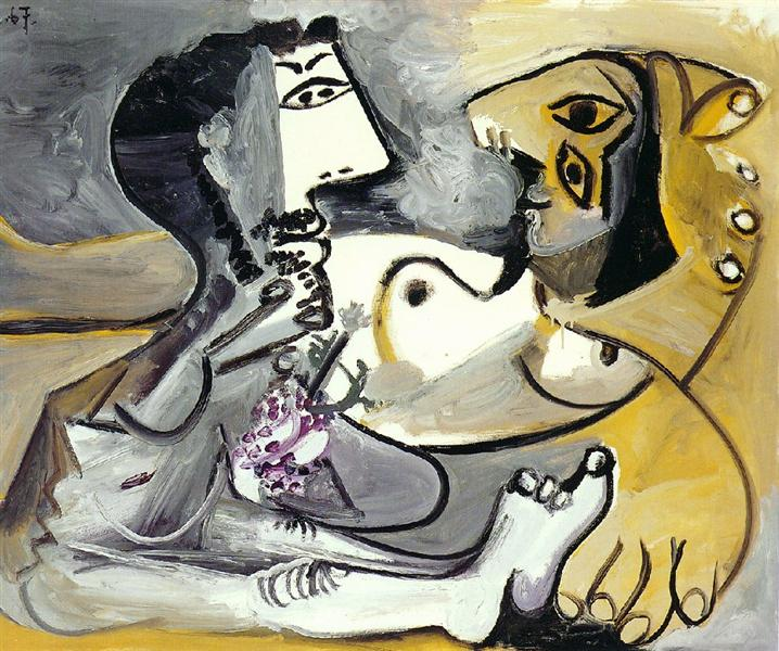 Naked man and woman, 1967 - Pablo Picasso