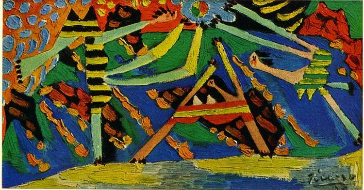 On the beach, Dinard, 1928 - Пабло Пикассо