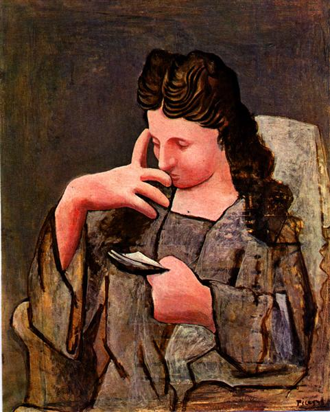 Seated woman (Olga), 1920 - Pablo Picasso