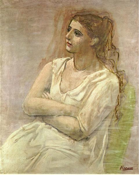 Seated woman with her arms folded (Sarah Murphy), 1923 - Pablo Picasso
