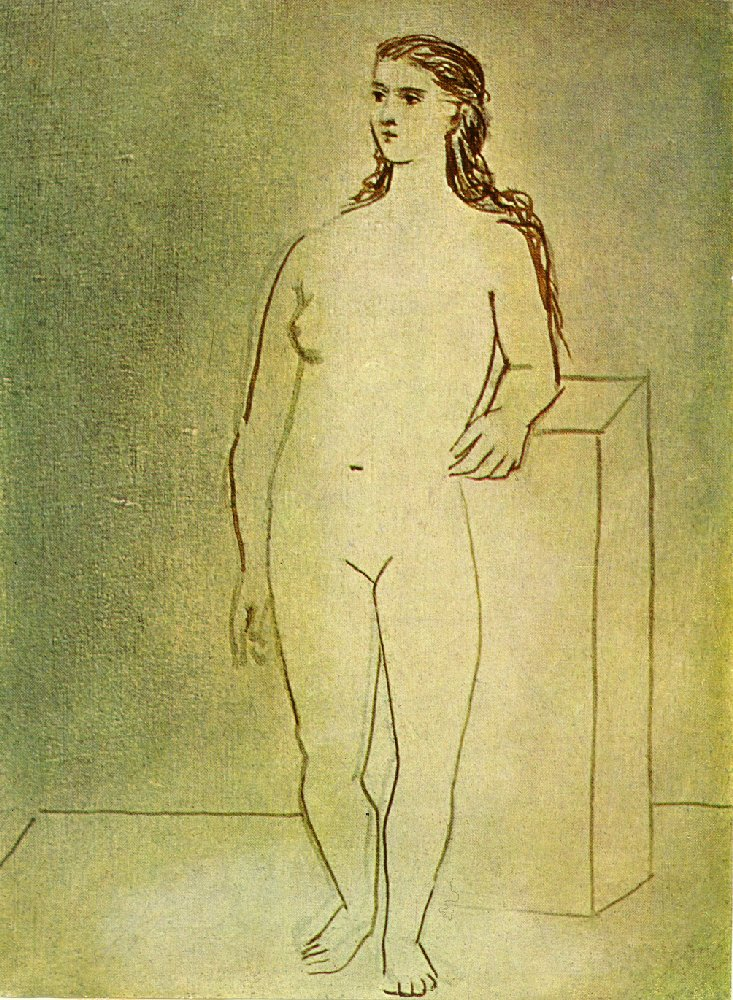 Standing female nude, 1923