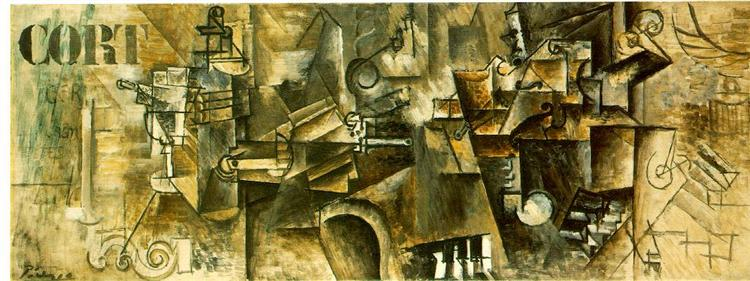 Still life on the piano ('CORT'), 1911 - Pablo Picasso