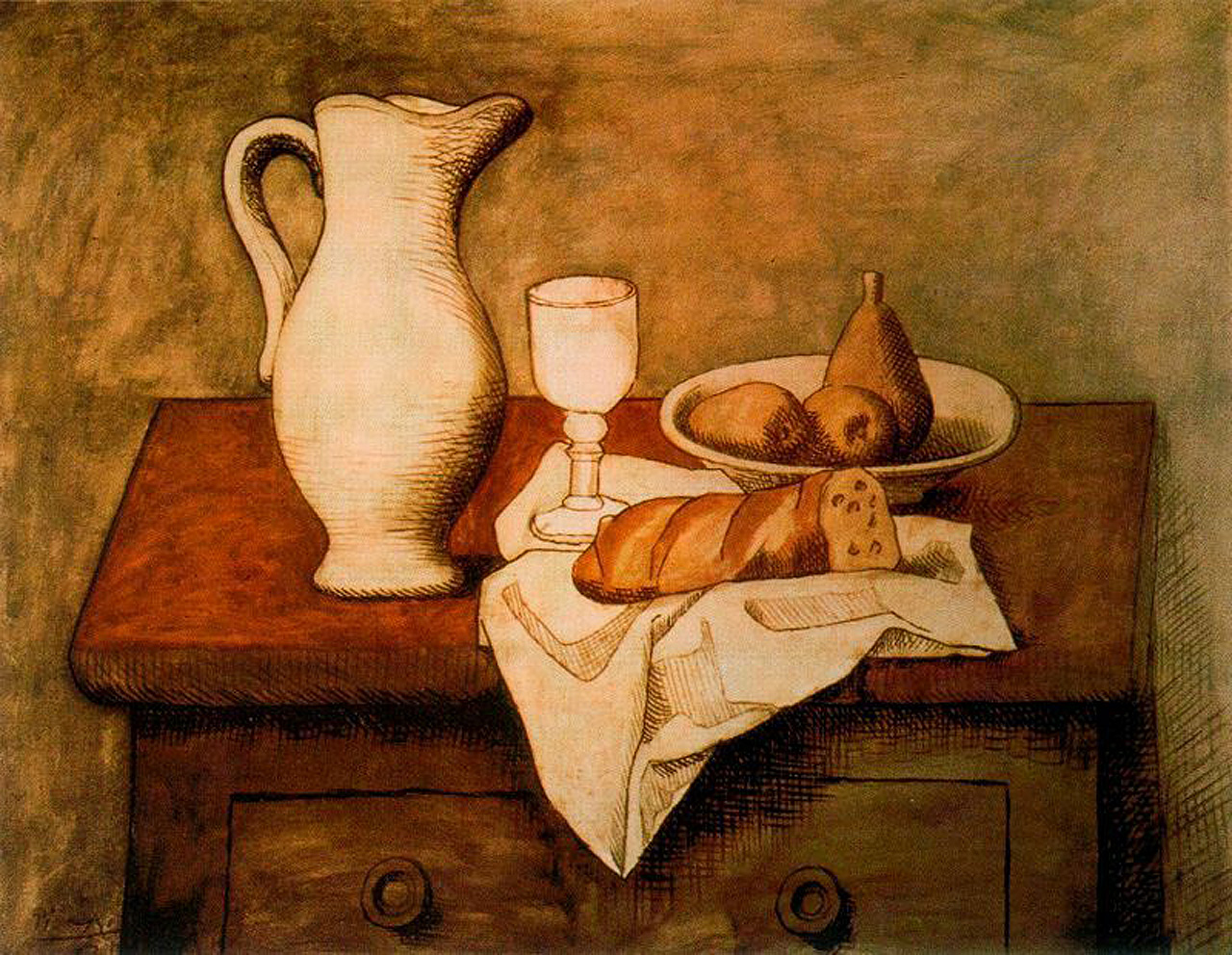 Still life with jug and bread, 1921