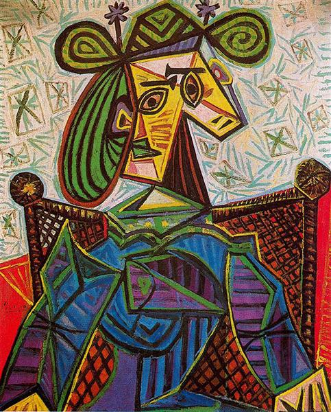 Woman sitting in an armchair, 1941 - Pablo Picasso