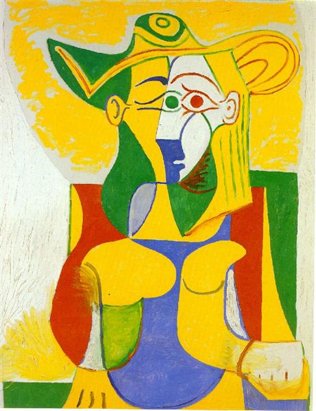 Woman sitting in an armchair, 1962 - Pablo Picasso