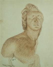 Pencil drawing. Great sculpture - Panos Terlemezian