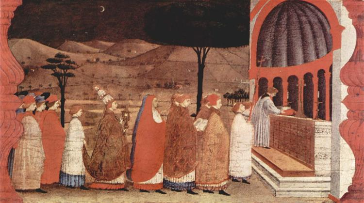 Procession of re-ordained in a church, 1465 - 1469 - Paolo Uccello