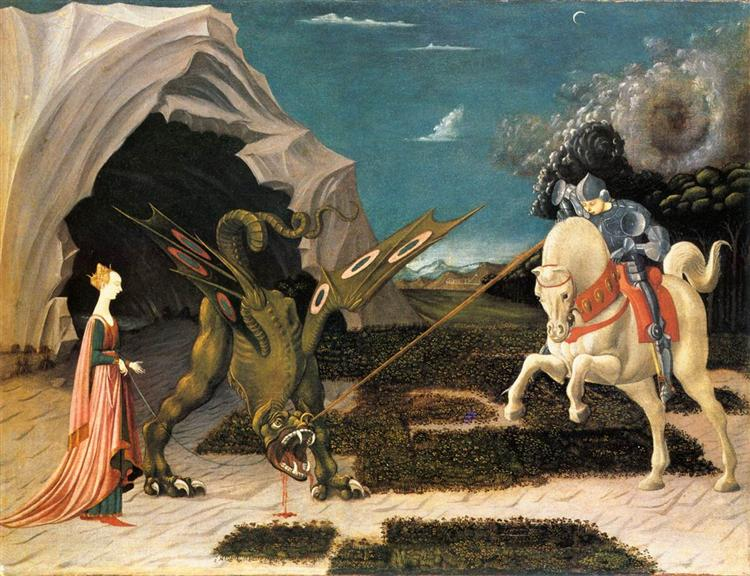 St. George and the Dragon, c.1470 - Paolo Uccello