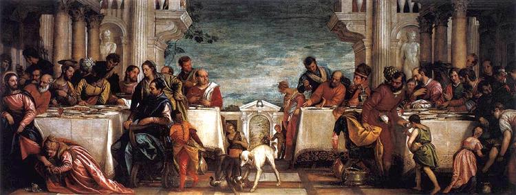 Feast at the House of Simon, 1567 - 1570 - Paolo Veronese