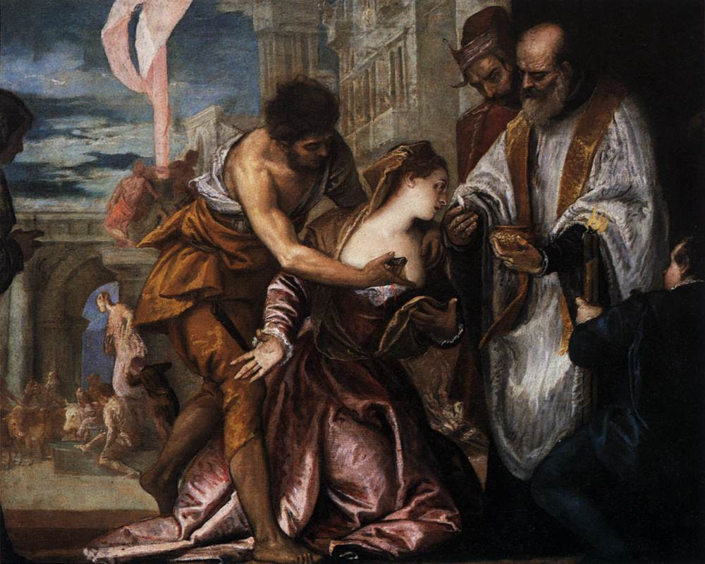 The martyrdom and last communion of saint lucy 1582 for Die wanderhure