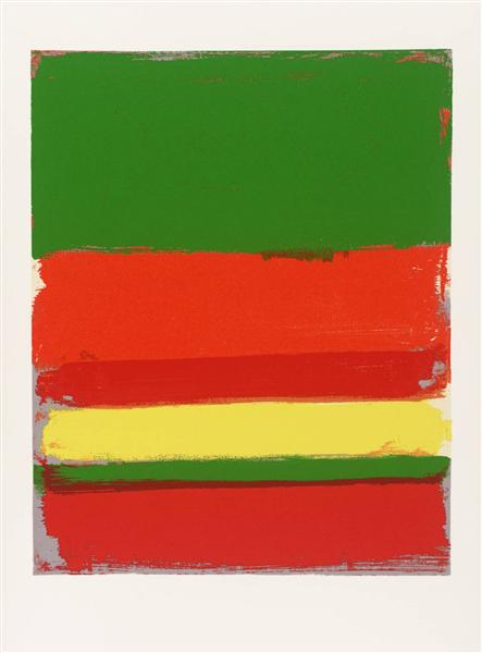 Untitled from the Shapes of Colour, 1978 - Patrick Heron