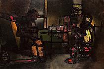 Rembrant devisant avec son ami le rabbin, le soir dans son atelier - Пауль Акерман