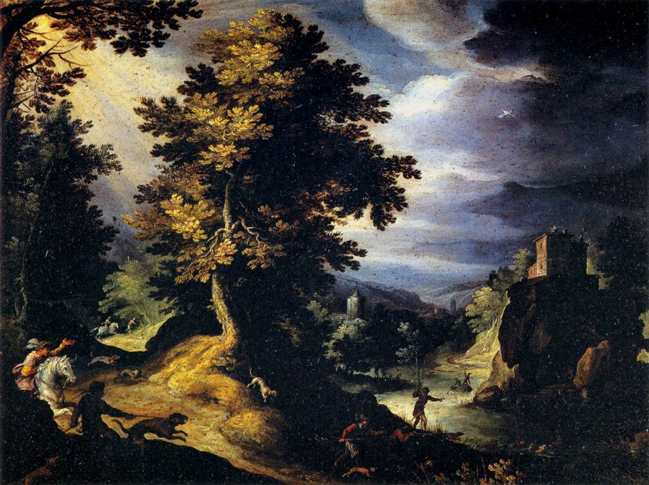 Landscape with Stag Hunt, 1595