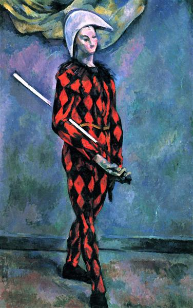 Harlequin, 1890 - Paul Cezanne