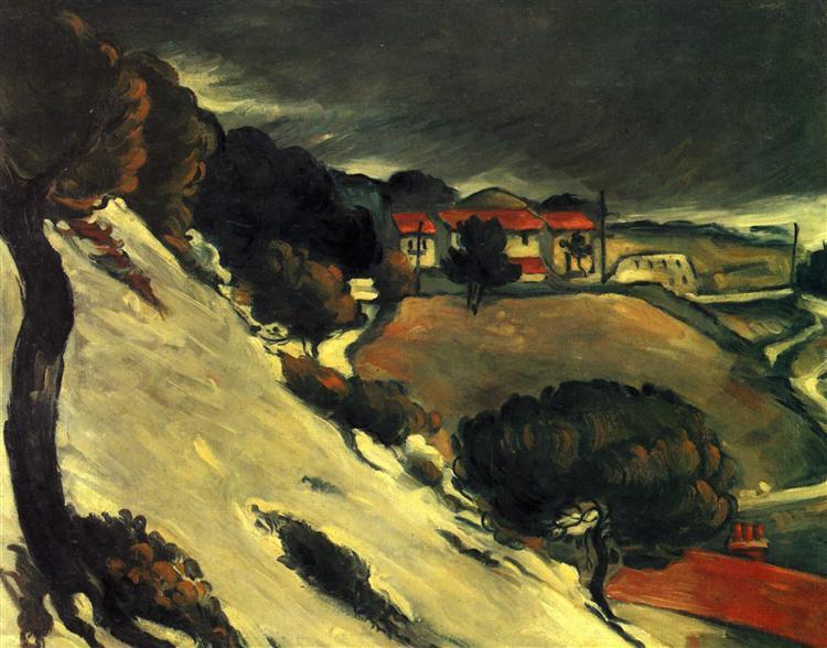 L'Estaque under Snow, 1870 - Paul Cezanne