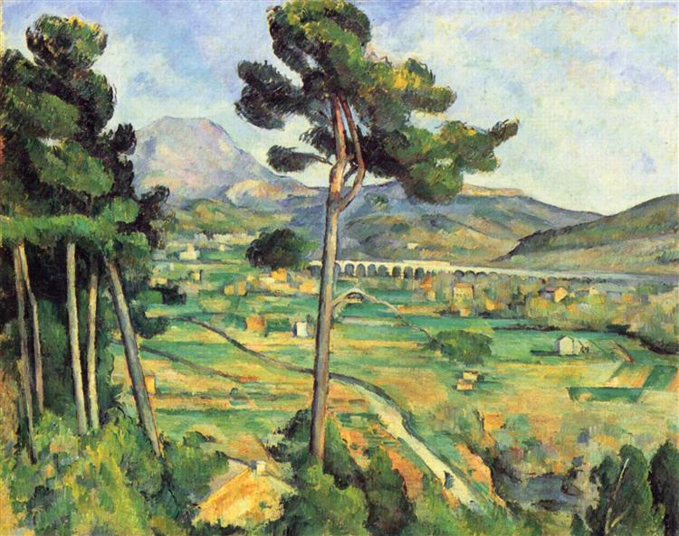 Mont Sainte-Victoire and the Viaduct of the Arc River Valley, 1882 - 1885 - Paul Cezanne