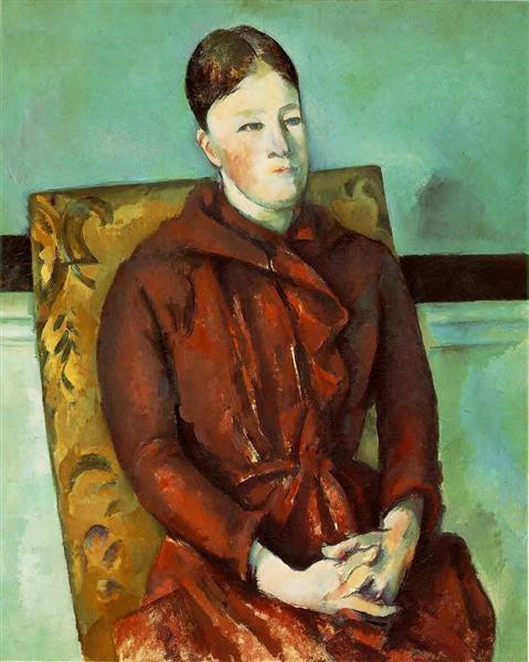 Madame Cezanne in a Yellow Chair, c.1891 - Paul Cezanne