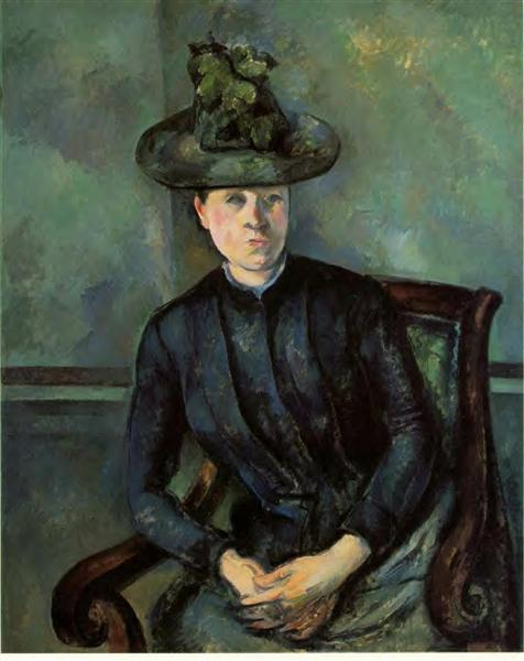 Woman in a Green Hat (Madame Cezanne) - Paul Cezanne