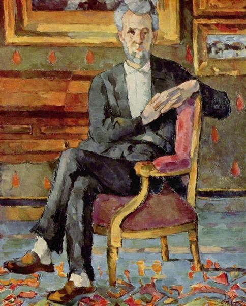 Portrait of Victor Chocquet, Seated, c.1877 - Paul Cezanne