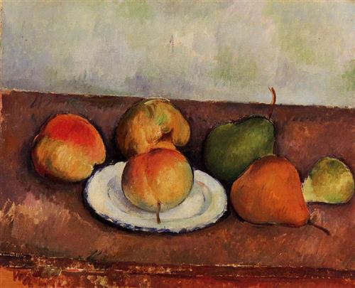 Still Life Plate and Fruit - Paul Cezanne