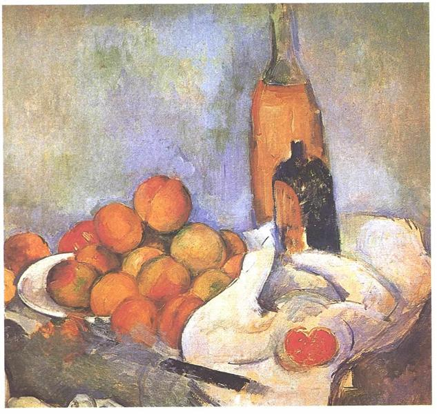 Still life with bottles and apples, c.1894 - Paul Cezanne