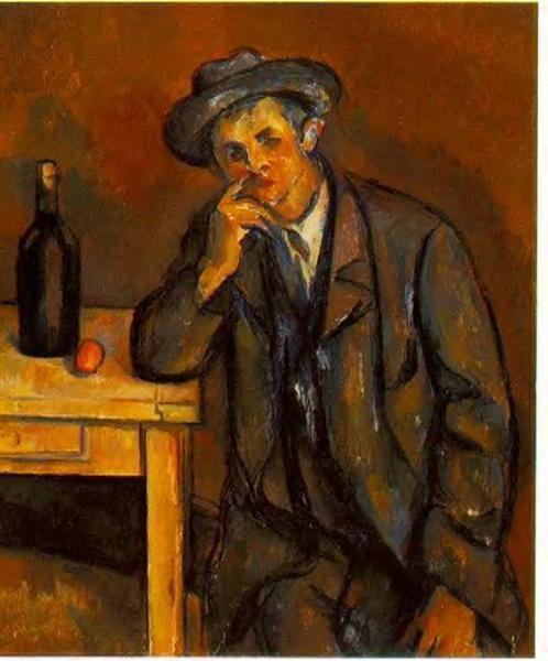 The Drinker, 1891 - Paul Cezanne