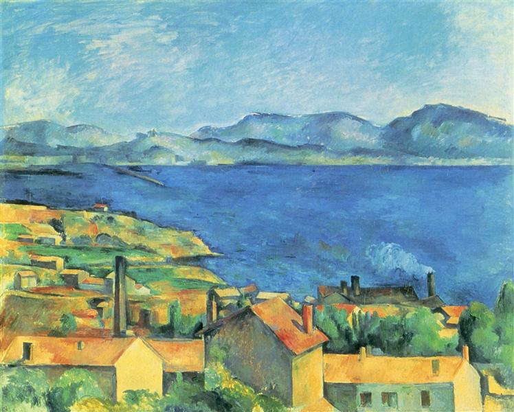 The Gulf of Marseille Seen from L'Estaque, c.1885 - Paul Cezanne