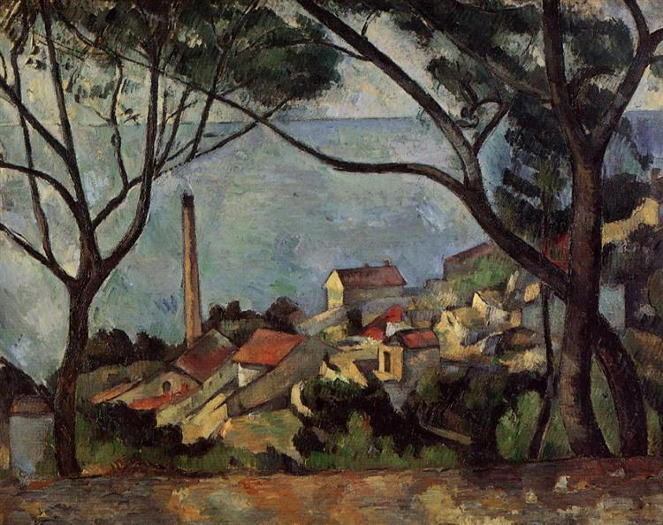 The Sea at l'Estaque, 1878 - Paul Cezanne